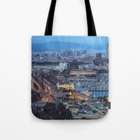 barcelona Tote Bags featuring Barcelona by AnnaGo