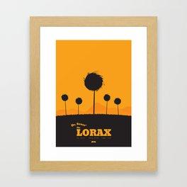Dr. Seuss - The Lorax : Minimal poster Framed Art Print