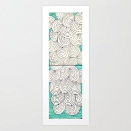 swirl pattern Art Print