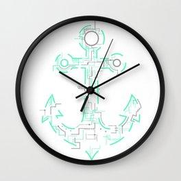 Electric Anchor Art Wall Clock
