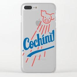 El Cochinito LA logo Clear iPhone Case