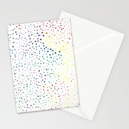 rainbow color geometric Stationery Cards