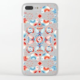 Folkloric Ombre Lovebirds Clear iPhone Case