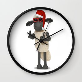 Shaun the sheep xmas Wall Clock