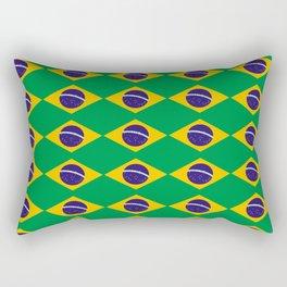 flag of brazil 2-Brazil, flag, flag of brazil, brazilian, bresil, bresilien, Brasil, Rio, Sao Paulo Rectangular Pillow