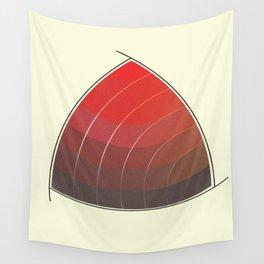 Le Rouge-Orangé (ses diverses nuances combinées avec le noir) Vintage Remake, no text Wall Tapestry