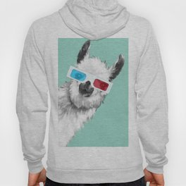 Sneaky Llama with 3D Glasses #01 Hoody