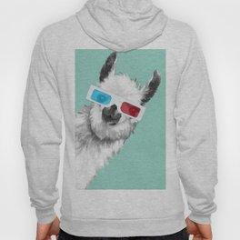 Sneaky Llama with 3D Glasses #01 Hoody