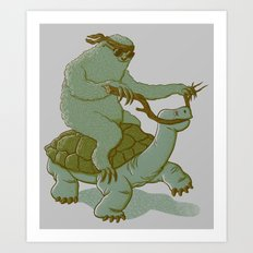 Slow Ridin' Sloth Art Print