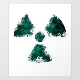 Radioactive Fallout Symbo Art Print