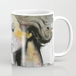 Monument (long hair girl with bird and skyline tattoo) Coffee Mug