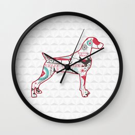 XMAS WEIM SILHOUETTE Wall Clock
