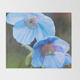 Himalayan Blue Poppy Throw Blanket