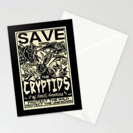 SAVE THE CRYPTIDS Stationery Cards