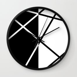 Black and White Abstraction Wall Clock