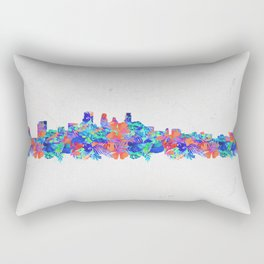 Minnepolis Minnesota Skyline Florals Rectangular Pillow