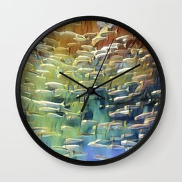 In the Fish Bowl Wall Clock