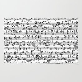 Hand Written Sheet Music Rug