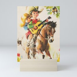 Little Cowboy Mini Art Print