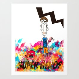 Super heros, colors, monster, guy Art Print