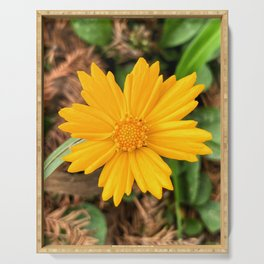 Yellow Flower Serving Tray
