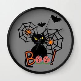 Happy Whimsical Halloween Wall Clock