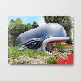 Monstro The Whale Metal Print