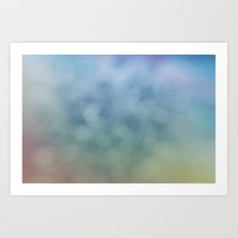 Relax of Blue Art Print