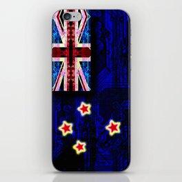 circuit board new zealand (flag) iPhone Skin