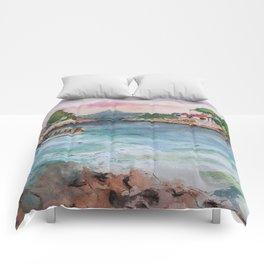 Croatian sunset Comforters