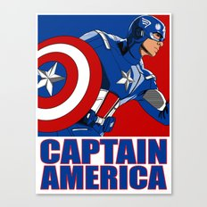 Captain 'merica Canvas Print