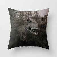 dinosaurs Throw Pillows featuring Dinosaurs by TaLins