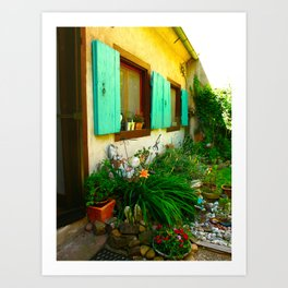 French Garden House Art Print