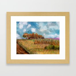 A Gem Of A Moment Captured By A Bumpy Road Framed Art Print