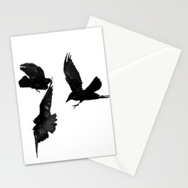 A Trio of Crows Stationery Cards