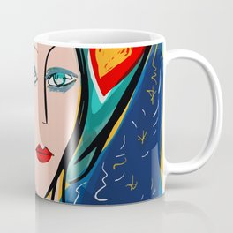 Pop Girl Art Deco with Hat and hearts Coffee Mug