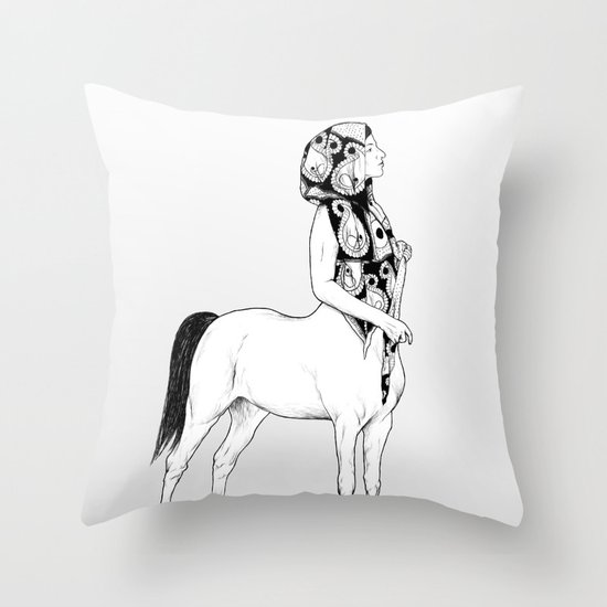 horses for courses I Throw Pillow