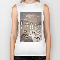 amelie Biker Tanks featuring Amelie by The Fan Wars