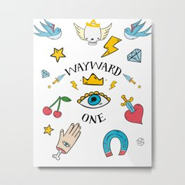 Wayward One - Old School Tattoo Flash Art Metal Print