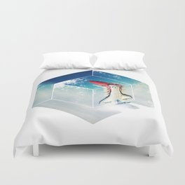 Into the Fourth Dimension Duvet Cover