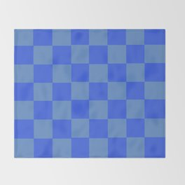 Blue Chex 2 Throw Blanket