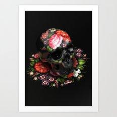Zhostovo Skull Art Print