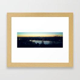 Seattle Pre-Dawn Bokeh 2 Framed Art Print