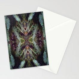 kaleidoscopic fern Stationery Cards