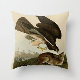 372 Common Buzzard Throw Pillow