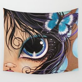 Blue Butterfly Wall Tapestry