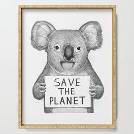 Koala save the planet Serving Tray
