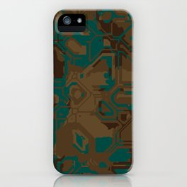 Peacock and Brown iPhone Case
