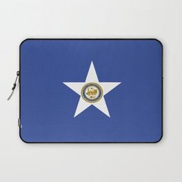 American cities-  Flag of Houston. Laptop Sleeve