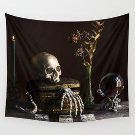 Vanitas, Memento Mori, Macabre Halloween Photo Wall Tapestry